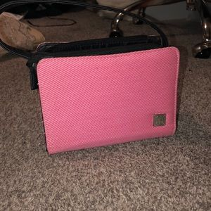Miche small black purse with pink covering